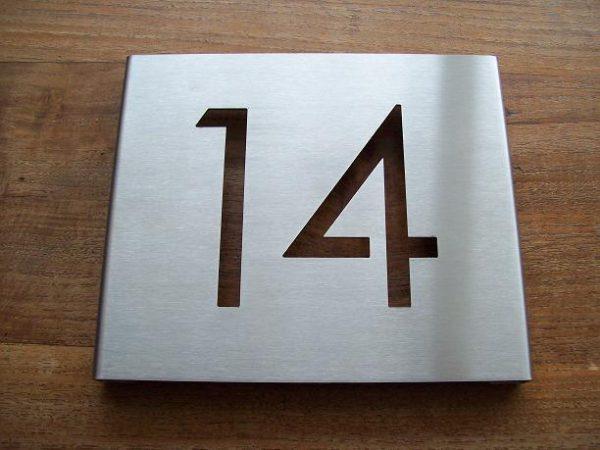 rvs huisnummerbord