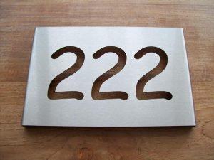 RVS huisnummerbord type A-01 V