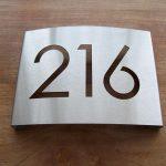 RVS huisnummerbord type A-01 HB