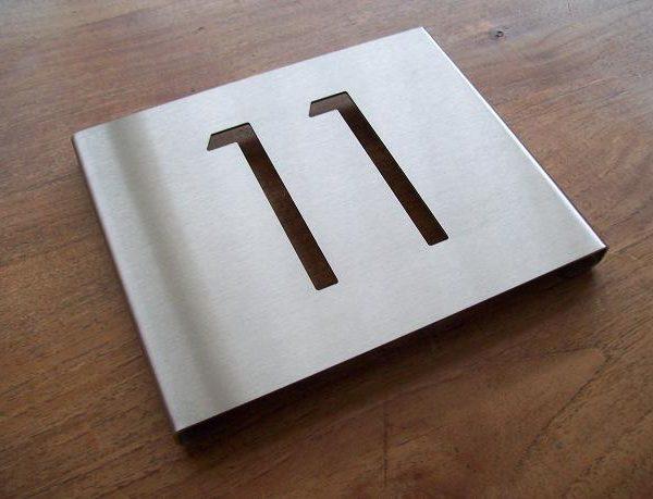Huisnummerborden 1mm dik