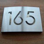 Huisnummerbord RVS