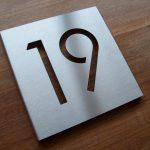 Huisnummer bord rvs