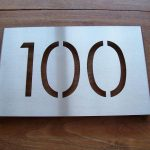 RVS huisnummer bord