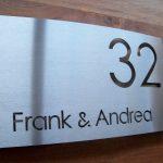 Naambord van naambordwinkel