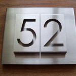 Design huisnummerbord RVS uniek model