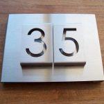 RVS huisnummerbord type B-01-2