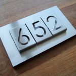 RVS huisnummerbord type B-01-3