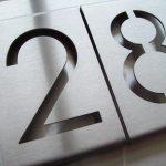 Huisnummer bord detail