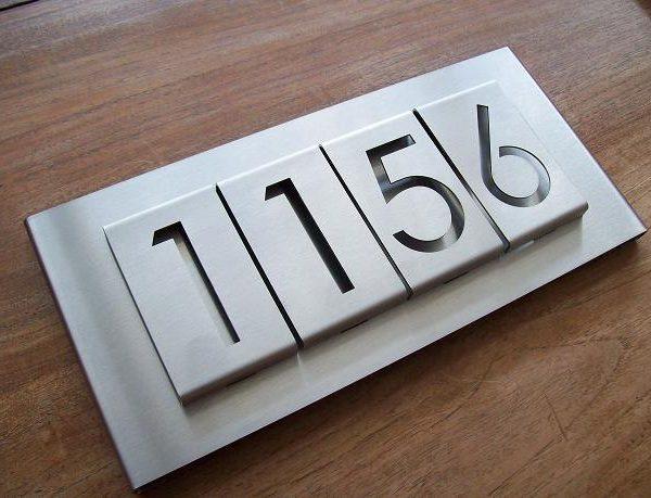 huisnummerborden 1,5mm dik