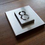 Design huisnummerbord RVS