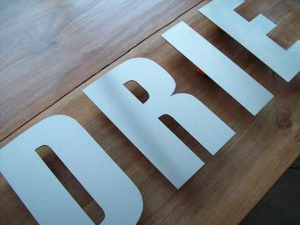 Huisnummer losse letters RVS