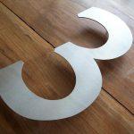 Huisnummer RVS 3mm dik