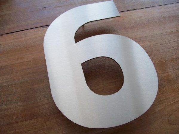 Huisnummer losse cijfers