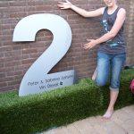Huisnummer RVS MEGA GROOT