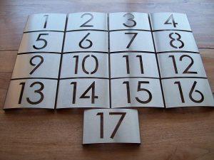 Kamernummers voor een hotel