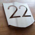 Huisnummer schild rvs