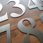RVS huisnummers losse cijfers