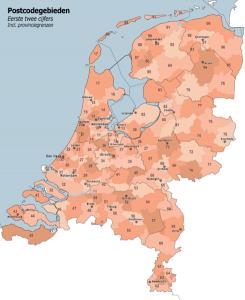 Postcodes in Nederland
