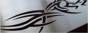 rvs naambord met tribal