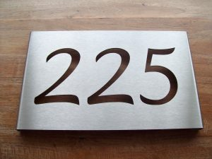 rvs huisnummerbord 225